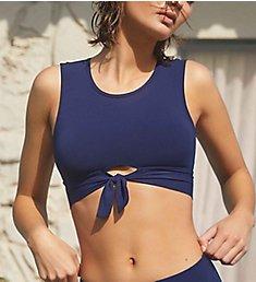 Robin Piccone Ava Tank Top Front Tie Bikini Swim Top 191725