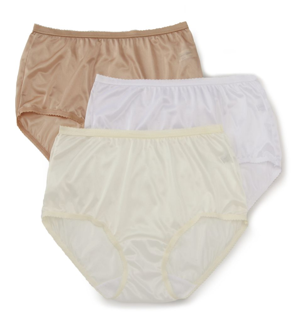 Shadowline Nylon Modern Brief Panty - 3 Pack 17642pk