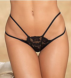 Shirley of Hollywood Lace Strappy Thong 25788
