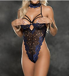 Shirley of Hollywood Two Toned Stretch Lace Shelf Cup Teddy 31399