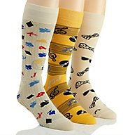 Stacy Adams Fun Time Combed Cotton Socks - 3 Pack S740HR-C