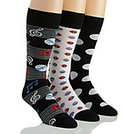 Stacy Adams Musical Dots Combed Cotton Socks - 3 Pack S740HR-D