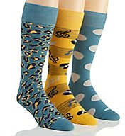 Stacy Adams Wild Musician Combed Cotton Socks - 3 Pack S740HR-E