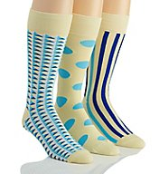 Stacy Adams Pastel Blues Combed Cotton Socks - 3 Pack S740HR-F