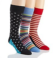Stacy Adams Stars & Stripes Mis-Matched Socks - 3 Pack S740HR-J