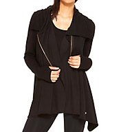 Terez Black Zip Up Drape Jacket 2210