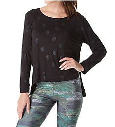 Terez Foil Printed Open Side Long Sleeve Top 2223