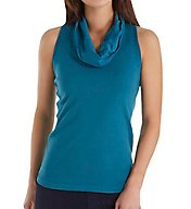 Three Dots Cotton Sleeveless Cowl Neck Top AA0L429