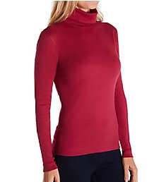 Three Dots Combed Cotton Turtleneck AA2T040