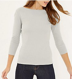 Three Dots 1x1 British 3/4 Sleeve Tee AA4W033