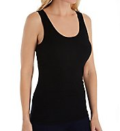 Three Dots 2x1 Viscose Fitted Tank Tee JY0S021