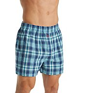 Tommy Bahama Plaid 100% Cotton Woven Boxer 2151309