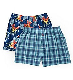 Tommy Bahama Big Man Floral and Plaid Woven Boxers - 2 Pack 2171309X