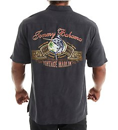 Tommy Bahama Vintage Marlin Silk Panel Back Embroidered Shirt T314847