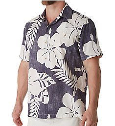 Tommy Bahama Hialeah Hibiscus Silk Camp Shirt T318382