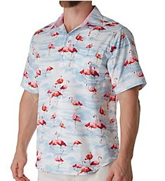 Tommy Bahama Delano Flamingo Silk Camp Shirt T318642