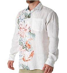 Tommy Bahama Koi West Linen Long Sleeve Camp Shirt T318655