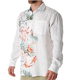 Tommy Bahama Koi West Linen Long Sleeve Camp Shirt T318655
