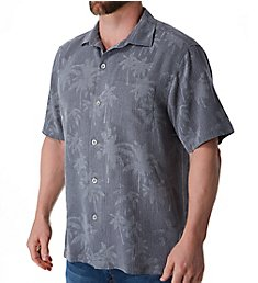 Tommy Bahama Digital Palms Silk Camp Shirt T320940