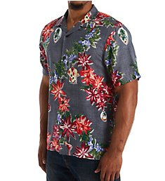 Tommy Bahama Poinsettia Holiday Camp Shirt T323271