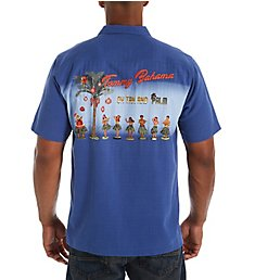 Tommy Bahama Oh Tan and Palm Camp Shirt T323401