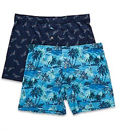 Tommy Bahama Coconut Island & Marlin Knit Boxer Brief - 2 Pack tb01501