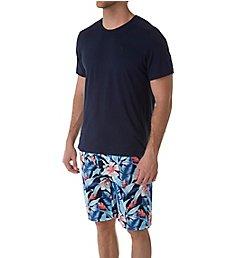 Tommy Bahama Tropical Print Woven Jam & T-Shirt Lounge Set tb91507