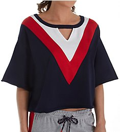 Tommy Hilfiger Americana Keyhole French Terry Sleep Top R24S024