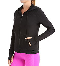 Trina Turk Bermuda Triangle Solids Hooded Jacket TR5VL35