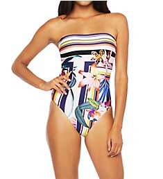 Trina Turk Treasure Cove Bandeau One Piece Swimsuit TT0AL11