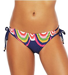 Trina Turk Rainbow Swirl Loop Side Hipster Swim Bottom TT0AW94