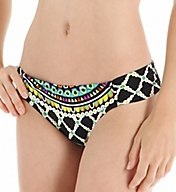Trina Turk Kon Tiki Shirred Side Hipster Swim Bottom TT5FN90