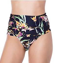 Trina Turk Fiji Floral Mix Shirred High Waist Swim Bottom TT9HD98
