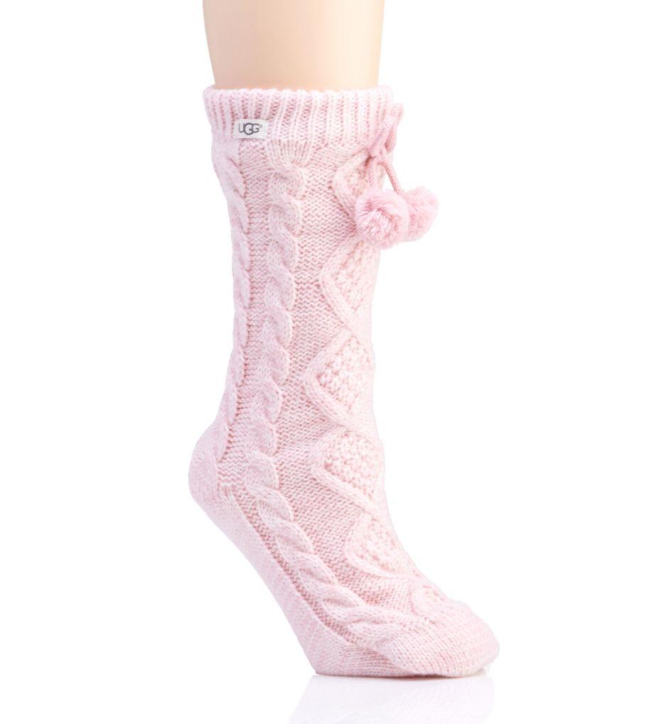 UGG Pom Pom Fleece Lined Crew Sock 1014837