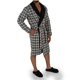 UGG Kalib Plaid Woven Fleece Robe 1095702
