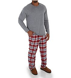 UGG Steiner Brushed Tri-Blend Jersey Knit Plaid Set 1101801