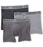 Under Armour Cotton Stretch 6 Inch Boxer Briefs - 3 Pack 1277279