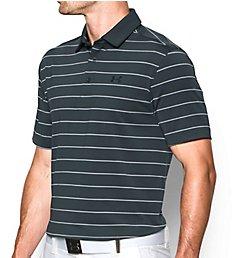 Under Armour Coldblack Swing Plane Striped Golf Polo Shirt 1280934