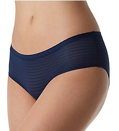 Under Armour Pure Stretch Sheers Striped Hipster Panty 1290950