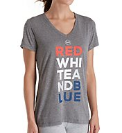 Under Armour UA Freedom Threadborne Siro V-Neck T-Shirt 1298022