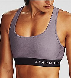 Under Armour Armour Crossback Heather Mid Impact Sports Bra 1310459